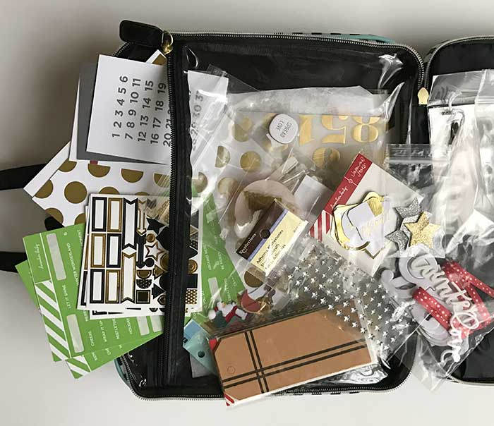 create 365 storage pouch interior