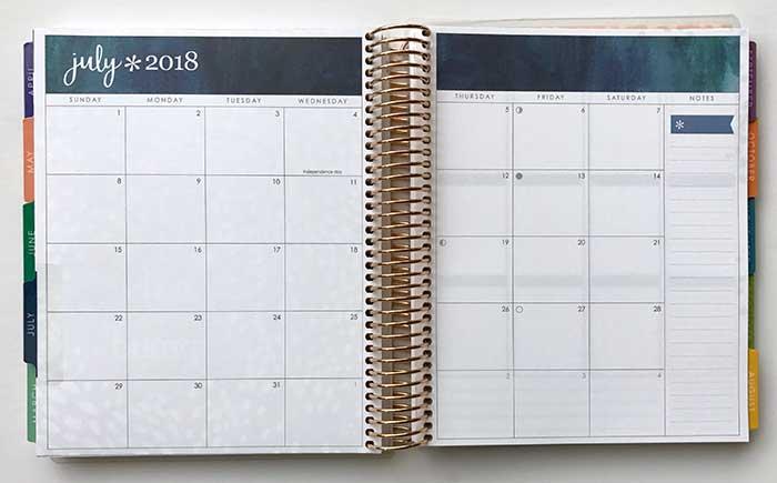 erin condren life planner 2018