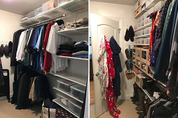 We Used The Front Half Of The Closet Primarily For Our Clothes And  Accessories. We Decided To Retain That Organization As It Made The Most  Sense To Keep ...